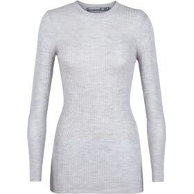 Icebreaker Valley Slim Crewe Sweater Women steel heather